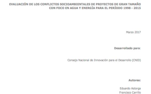AGEA Elabora Para El CNID Un Informe De Evaluación De Los Conflictos Socio-Ambientales De Proyectos De Gran Tamaño